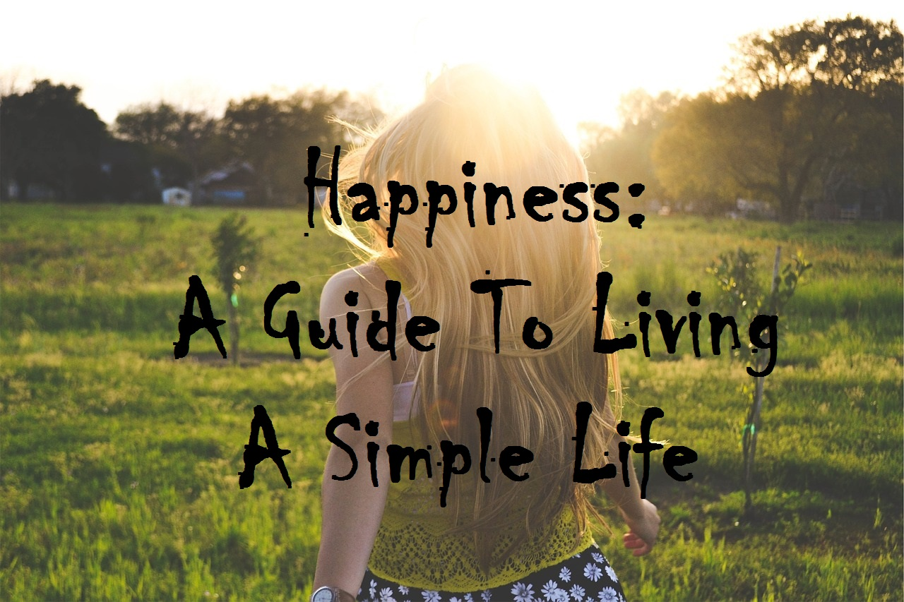 Happiness a guide to living a simple life michael for The simple guide to a minimalist life